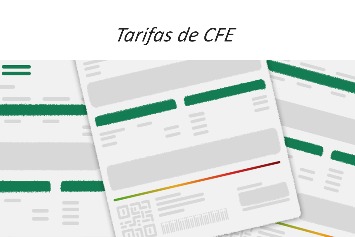 tarifas CFE